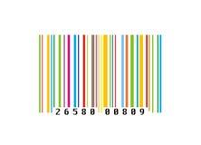 Kleurrijke creatieve streepjescode stock illustratie