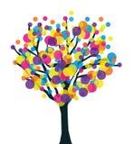 Kleurrijke creatieve vruchtbare boom. Stock Afbeeldingen