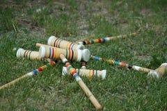 Kleurrijke croquethouten hamers Royalty-vrije Stock Foto's