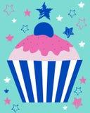 Kleurrijke cupcake Stock Foto