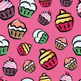 De achtergrond van Cupcake royalty-vrije illustratie