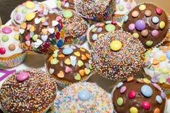 Kleurrijke cupcakes Royalty-vrije Stock Fotografie