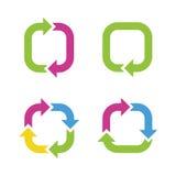 Kleurrijke cycluspijlen Stock Foto's