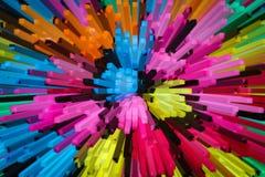 Kleurrijke 3D achtergrond stock illustratie