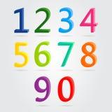 Kleurrijke 3d geplaatste aantallen Stock Foto