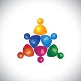 Kleurrijke 3d kinderen of jonge geitjes die pictogrammen of tekens spelen Royalty-vrije Stock Afbeeldingen
