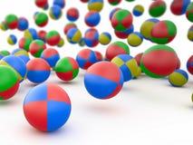 Kleurrijke 3D strandballen, Stock Afbeelding