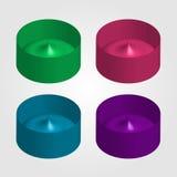 Kleurrijke 3d voorwerpen voor gebruik als embleem Stock Foto's