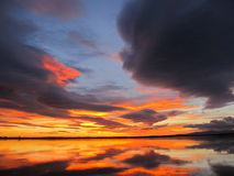 Kleurrijke dageraad Stock Foto's