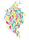 Kleurrijke dalingen stock illustratie