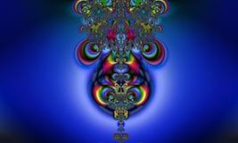 Kleurrijke dalingen en vloeibaar patroon op vlotte achtergrond royalty-vrije illustratie