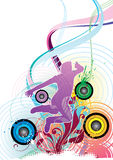 Kleurrijke Danser Stock Foto's