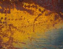 Kleurrijke de Achtergrond van de roestmuur Stock Afbeeldingen
