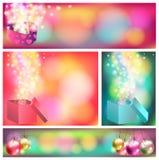 Kleurrijke de bannerachtergrond van het vieringsornament, c Stock Fotografie