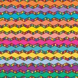 Kleurrijke de chevron trekt lijnpatroon Stock Afbeelding