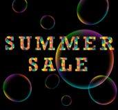 Kleurrijke de driehoeksaffiche van de de zomerverkoop Stock Afbeelding