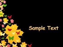 Kleurrijke de herfstachtergrond Stock Fotografie
