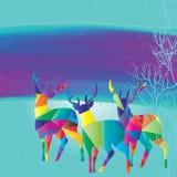Kleurrijke de herten zien eruit Royalty-vrije Stock Afbeeldingen