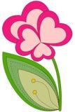 Kleurrijke de installatieaffiche van de hartbloem Royalty-vrije Stock Afbeeldingen