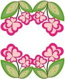 Kleurrijke de installatiegrens van de hartbloem Royalty-vrije Stock Afbeelding