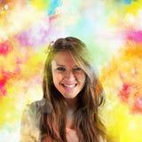 Kleurrijke de lenteglimlach royalty-vrije stock afbeelding