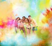 Kleurrijke de lentepartij stock fotografie