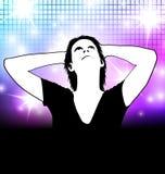 De partijaffiche van de disco Stock Foto