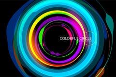 Kleurrijke de scènevector van de cirkelvorm vector illustratie