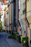Kleurrijke de stadsscène Augsburg van huisvoorgevels Stock Afbeelding