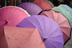 Kleurrijke de Stijlparaplu van Japan Royalty-vrije Stock Foto