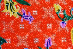 Kleurrijke de stoffenachtergrond van de batikdoek stock fotografie