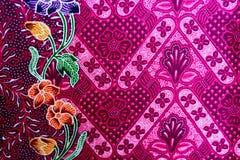 Kleurrijke de stoffenachtergrond van de batikdoek royalty-vrije stock foto's