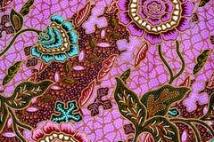 Kleurrijke de stoffenachtergrond van de batikdoek royalty-vrije stock afbeelding