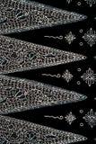 Kleurrijke de stoffenachtergrond van de batikdoek stock foto's