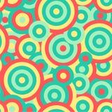 Kleurrijke de textuurachtergrond van het cirkels naadloze herhaalde vectorpatroon Royalty-vrije Stock Afbeelding