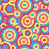 Kleurrijke de textuurachtergrond van het cirkels naadloze herhaalde vectorpatroon Stock Afbeelding