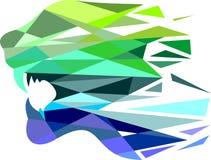 Kleurrijke de tijgersamenvatting van het voorraadembleem Stock Afbeelding