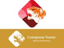 Kleurrijke de tijgersamenvatting van het voorraadembleem Stock Foto's