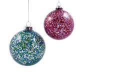 Kleurrijke de voorraadbeelden van Kerstmisballen Stock Foto