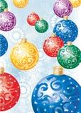 Kleurrijke decoratieballen Stock Foto's