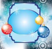 Kleurrijke decoratieballen en kaart voor tekst Royalty-vrije Stock Foto