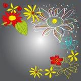 Kleurrijke decoratieve achtergrond royalty-vrije illustratie