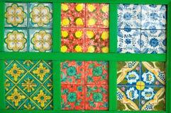 Kleurrijke, decoratieve tegels. De tijd van de vakantie. Stock Foto's