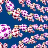 Kleurrijke decoratieve vogels op het patroon van partijballons Stock Foto's