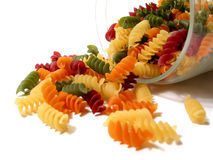 Kleurrijke deegwarenkruik Stock Fotografie