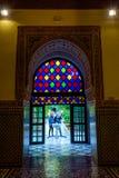 Kleurrijke deur bij het paleis van Bahia, Marrakech Royalty-vrije Stock Afbeeldingen