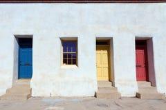 Kleurrijke Deuren in Tucson stock foto