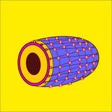 Kleurrijke dhol of dhool vectorillustratie stock illustratie