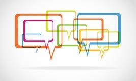 Kleurrijke dialoogbellen   Stock Illustratie