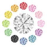 Kleurrijke diamant Stock Afbeeldingen